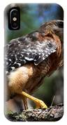 Red Shouldered Hawk IPhone Case