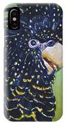 Red Tailed Black Cockatoo  IPhone Case