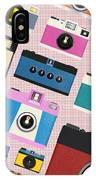 Retro Camera Pattern IPhone Case by Setsiri Silapasuwanchai