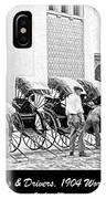 Rickshas And Drivers, 1904 Worlds Fair IPhone Case