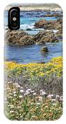 Rocky Surf With Wildflowers IPhone Case