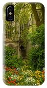Rouen Abbey Garden IPhone Case