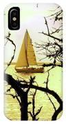 Sailboat Golden Sunset IPhone Case