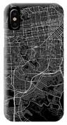 San Francisco California Usa Dark Map IPhone Case