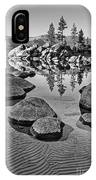 Sand Harbor Ripples IPhone Case