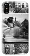 Savannah Collage Black And White IPhone Case