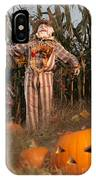 Scarecrow In A Corn Field IPhone Case