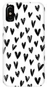Seamless Pattern With Hand Drawn Hearts.  IPhone Case