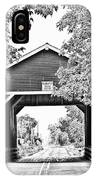 Shimanek Covered Bridge -surreal Bw IPhone Case