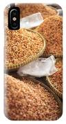 Small Asian Dried Shrimp In Kep Market Cambodia IPhone Case
