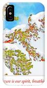 Snow-covered Conifer IPhone Case