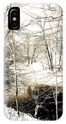 Snow-covered Stream Banks, Pennsylvania IPhone Case