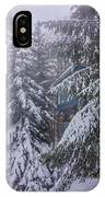 Snow Covered Trees In The North Carolina Mountains During Winter IPhone Case