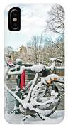 snowy Amsterdam in the Netherlands IPhone Case