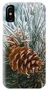 Snowy Pine Cones IPhone Case