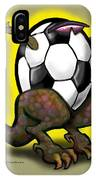 Soccer Saurus Rex IPhone Case