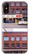 Something's Going On At The Greeting Card Center. IPhone Case by Mike Evangelist