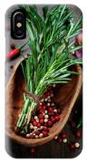 Spices On A Wooden Board IPhone Case