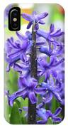 Spring Time With Blooming Hyacinth Flowers In A Garden IPhone Case