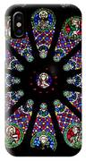 Stained Glass Rose Window In Lisbon Cathedral IPhone Case