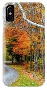 Stone Autumn Road IPhone Case