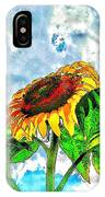 Sunflower In The Sky IPhone Case