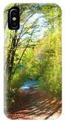 Sunny Autumn Path IPhone Case