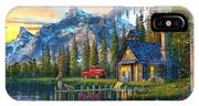 Sunset At Log Cabin IPhone X Case