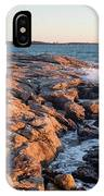 Sunset At Ocean Point, East Boothbay, Maine  -230204 IPhone Case