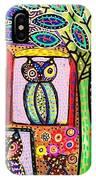 Talavera Owl Tree House IPhone Case