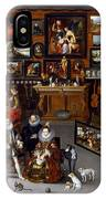 The Archdukes Albert And Isabella Visiting A Collector's Cabinet IPhone Case