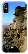 The Gritstone Rock Formations On Stanage Edge IPhone Case