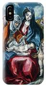 The Holy Family With Saint Anne And The Infant John The Baptist IPhone Case