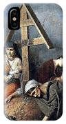 The Scene At The Grave H 1859 58h69 Am Gtg Vasily Perov IPhone Case