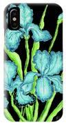 Three  Blue Irises IPhone Case