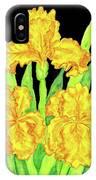 Three Yellow Irises, Painting IPhone Case