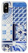 Tile Blue Background IPhone Case by Ariadna De Raadt