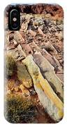 Tracks Of Color In Valley Of Fire IPhone Case