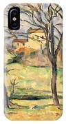 Trees And Houses Near The Jas De Bouffan IPhone Case
