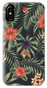 Tropical Leaf Pattern 5 IPhone Case