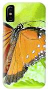 Tropical Queen Butterfly Framing Image IPhone Case
