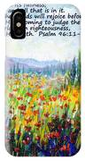 Tuscany Fields With Scripture IPhone Case