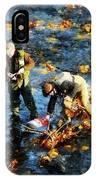 Two Men Fishing IPhone Case