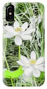 Two Water-lilies IPhone Case