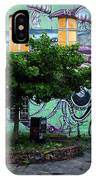 Underwater Graffiti On Studio At Metelkova City Autonomous Cultu IPhone Case