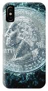 Us One Quarter Dollar Coin 25 Cents IPhone Case