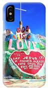 View Of Salvation Mountain IPhone Case