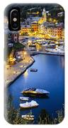 View Of The Harbour At Dusk  Portofino IPhone Case