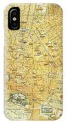 Vintage Map Of Athens Greece - 1894 IPhone Case