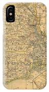 Vintage Map Of Rhode Island  IPhone Case